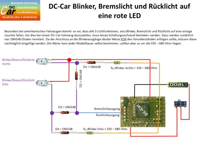Spezielle Beleuchtungs- und Blinkerschaltungen – DC-Car